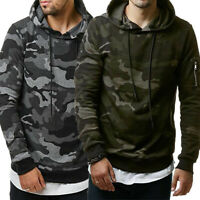 2020 New Men's Hooded Camouflage Sweatshirt Pullover Workwear Hoodie  Coat Tops