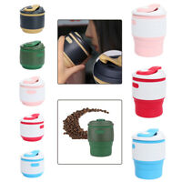 Collapsible Silicone Coffee Cup Mug Reusable Travel Foldable Leak-Proof US Ship