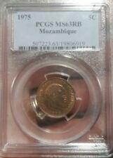1975 Mozambique 5C Cinco Centimos Moneda MS63RB