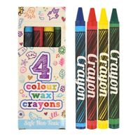 Children Kids Boys Girls Wax Crayons in Box Art Craft Birthday Party Loot Bag