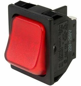 SCI R13-87 DPST Red Illum Rocker Switch Rapid 75-0280