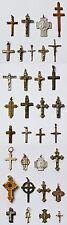 Sammlung Konvolut Lot 33 alte Kreuzanhänger Kreuze Silber Bronze Messing usw.