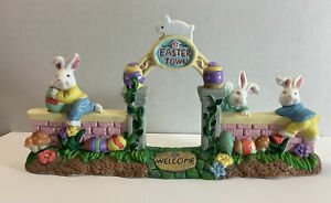 Cottontale Cottages Porcelain Gateway Jo-Ann Stores 1999 Original Box Easter