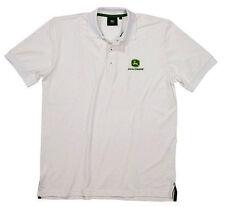 John Deere Classic Golf Polo-Shirt T-Shirt Gr. XL Weiss Neu