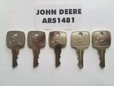(5) John Deere Ignition Keys fits many JD Equipment OEM AR51481 FAST SHIPPING