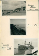 Mozambique, Lourenço Marques - Polana Beach et le SS Usaramo  Vintage silver pri