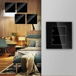 Modern Home Smart Touch Switch LED Indicator Light Switch Glass Panel Push