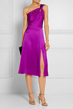 Cushnie Et Ochs One Shoulder Silk Dress Dress with Slit