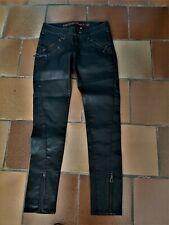 jean femme GUESS noir brillant  T 36 NEUF - en coton brillant nylon et elasthan