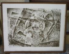 Belle gravure abstraite signée P. CLAMA  1934 - 2015