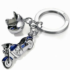 Troika Key Cruising Motorcycle with Helmet Charm Keyring KR1323CH