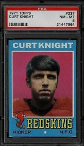 1971 Topps #237 Curt Knight RC PSA 8 NM-MT Washington Redskins Rookie CoastGuard