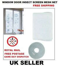 Windows White Insect Mosquito Fly Screen Mesh Net Door Protection Netting