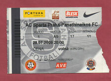 Orig.Ticket   Champions League  09/10  SPARTA PRAG - PANATHINAIKOS ATHEN  !!