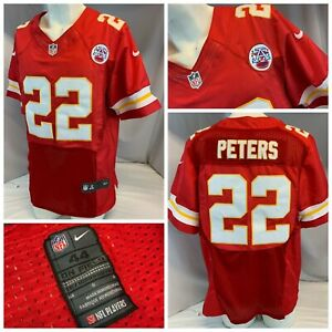Kansas City Chief Nike On-Field Jersey L 44 Red Authentic Peters 22 YGI A1-388