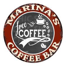 CFCB-0501 MARINA'S COFFEE BAR Sign Mother's Day Housewarming Christmas Gift