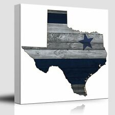 Wall26 - Dallas Blue and Silver - Cowboy Star - Canvas Art Home Decor - 24x24