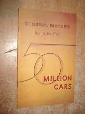1955 CHEVY 50 MILLION CARS BUILT MANUAL ORIGINAL GM DEALERSHIP BOOK