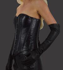 Gr.XXL  Damen Lange Handschuhe Anilinleder,Lederhandschuhe Long Leather Gloves