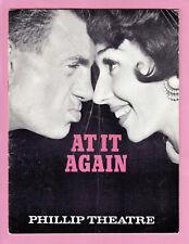 """Vintage Souvenir Programme """"AT IT AGAIN"""" 1962 Phillip Theatre Sydney ~ Original"""