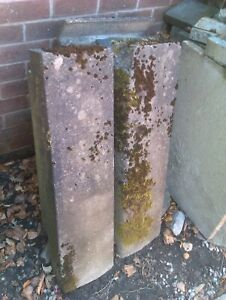Four Concrete Kerb Stones with Sloping Edge (Used)