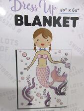 "Dress Up Mermaid Plush Throw Blanket 50"" x 60"""