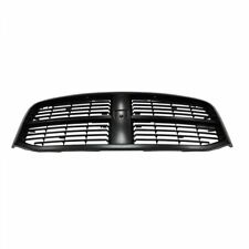 Front End Grille Grill Smooth Black NEW for Dodge Ram Pickup Truck