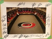 2006-07 CAROLINA HURRICANES TEAM AUTO BY 20 CANES! NHL HOF POSTER! STANLEY CUP