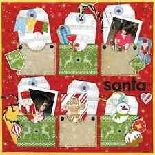 BoBunny Dear Santa Scrapbook Paper Kit  12 pcs Bo Bunny Lot 12x12