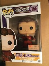 Guardians of the Galaxy Star-Lord with head phones and mix tape Funko box #155 h