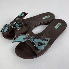 ca34d88743fea3 Oka-B Women s Flip Flop Sandals Size Medium Brown Aqua