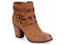 NEW MADDEN GIRL WOMEN'S DEVON Ankle Boots, Brown, Women Size 8