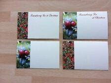 25 Assorted Xmas Plain & Remembrance Florist Cards Funeral