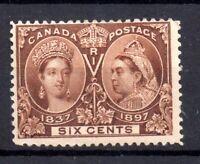 Canada QV 1897 6c Jubilee mint LHM WG129 WS18028