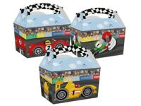10 Race Time Sports Car Bike Racing Track Birthday Party Boxes Fun Food Meal Box
