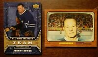 LOT OF 2 JOHNNY BOWER Insert Cards - TORONTO MAPLE LEAFS 🍁 - COMBINED SHIPPING