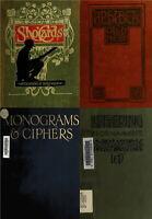122 OLD LETTERING ALPHABETS MONOGRAMS PENMANSHIP WRITING CARD SIGN BOOKS ON DVD