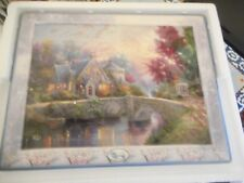 2000 Bradford Thomas Kinkade's Bridges of Life Collection Lamplight Manor Plate