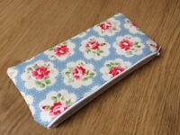 Cath Kidston Blue Provence Rose Fabric - Handmade Pencil/Make-Up/Glasses Case