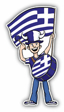 "Greece Flag Sport Fan Car Bumper Sticker Decal 3"" x 6"""