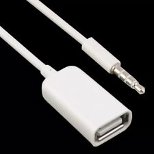 Adaptateur prise jack audio auxiliaire 3.5 mm à USB femelle - Blanc Udisk