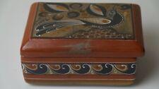 Antique Ceramic Treasure Box Jewellery Glazed Decorated Handmade Great Condition