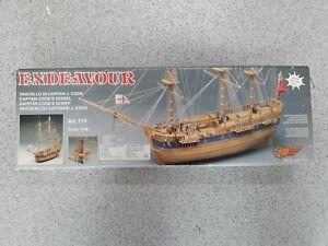 Mantua Wooden Model Kit 774 Endeavour 1768 1:60 Scale. Laser System cut.
