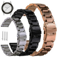 18 20 22 Solid Stainless Steel Watch Band Quick Release Strap For MK Smart Watch