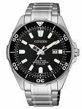 Citizen Men's Promaster Diver's 200M Titanium Eco-Drive Watch BN0200-81E NEW