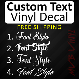 Cursive Vinyl Decal Sticker Script | Window CUSTOM Personalized Lettering 628
