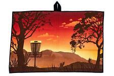 Innova Disc Golf Tour Microfiber Disc Towel, Mountain, Red-Orange, New