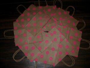 Victoria's Secret PINK LOGO Small POLKA DOT Paper Shopping Gift Bag 10