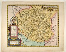 Burgundiae Duc de Bourgogne Ortelius 1584 Original Map France Frankreich Burgund