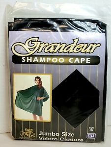 Zyrca Shampoo Cape New Old Stock Black Style #52 Unopened Size XL